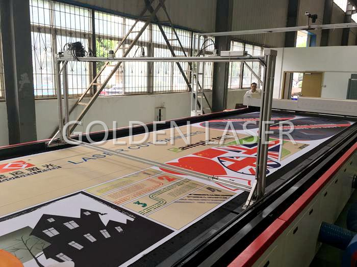 Laser Cutting Machine for Flags, Banners, Soft Signage CJGV-320500LD