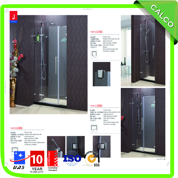 stainless steel shower door