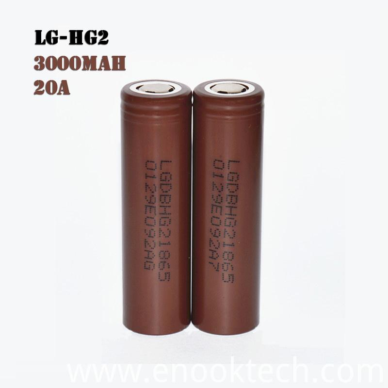 2017 LG HG2 18650 3000mAh Battery