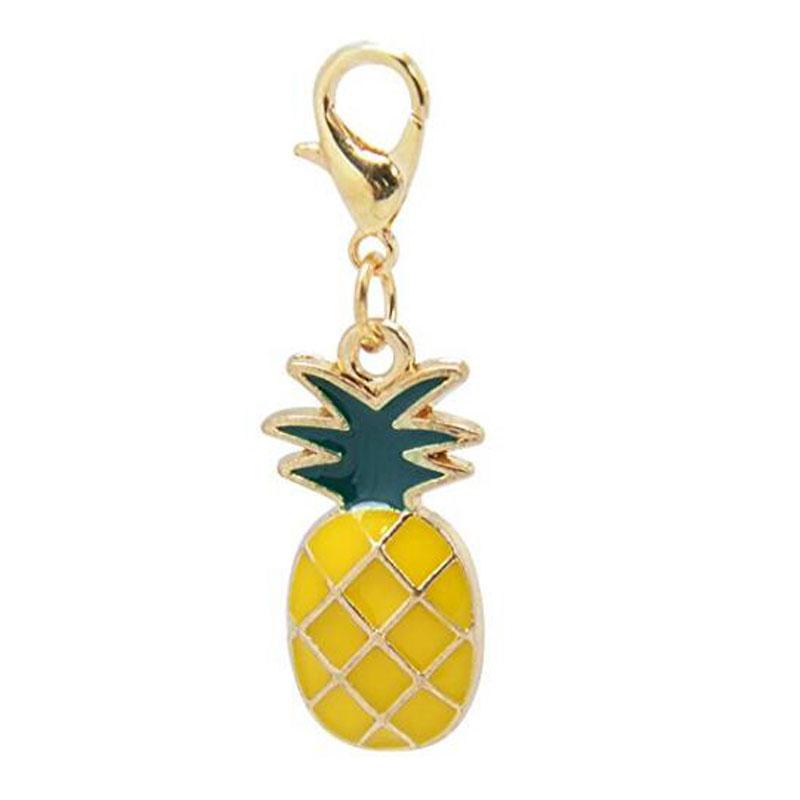 Paialco Enamel Pineapple Fruit Clasp Charms