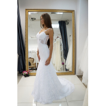 Trumpet/Mermaid Lace Sweep Train New Designer Wedding Dresses