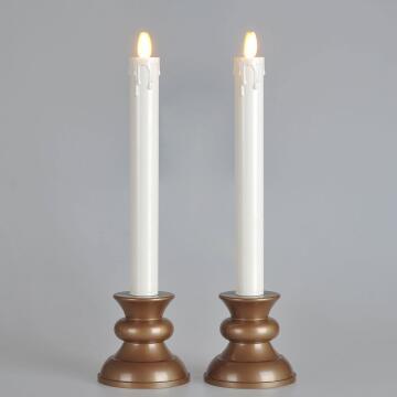 recharageable luminnara taper candle