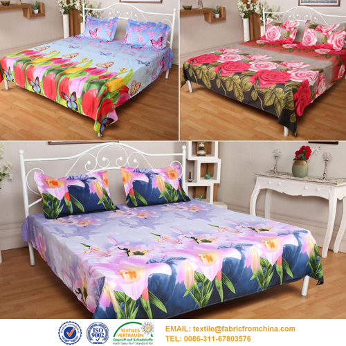 digital printed bedding sheet fabric