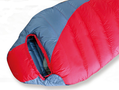 Duck down mummy sleeping bag