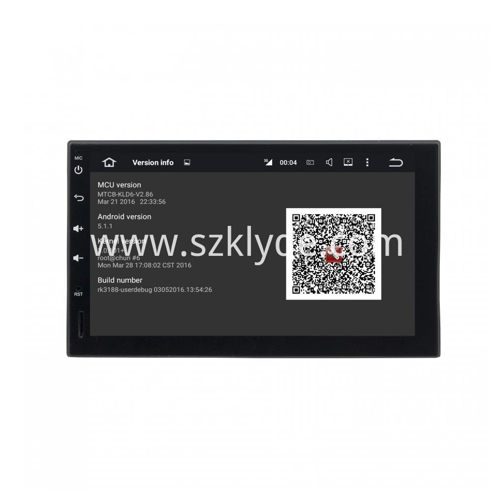 Android 7 1 Seven Inch Deckless Universal