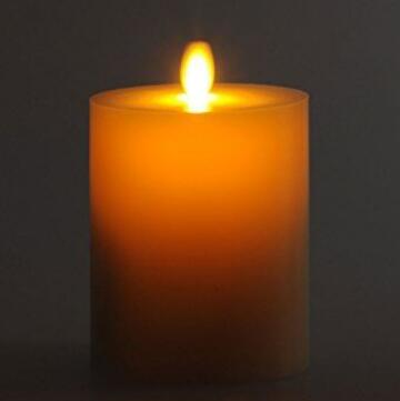 FLAT moving wick candle