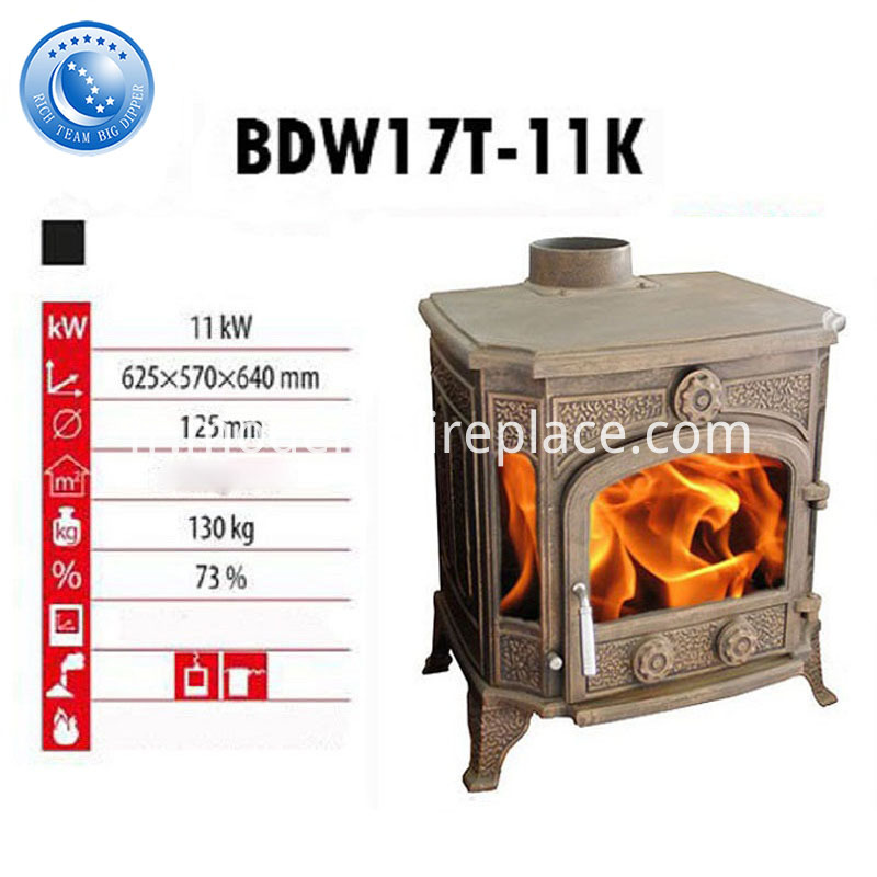 Cast Iron Wood Stove Indoor Fireplace