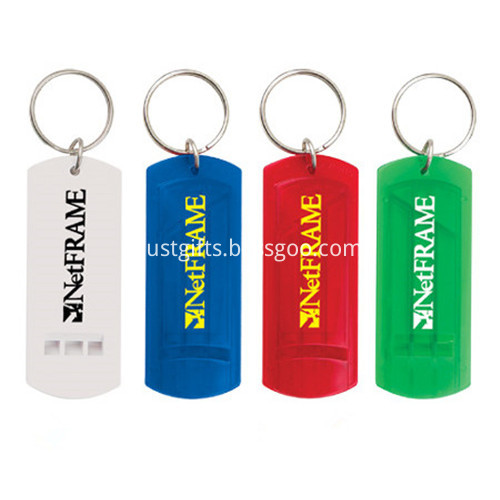 Promotional Logo Printed Rectangle Key Chain
