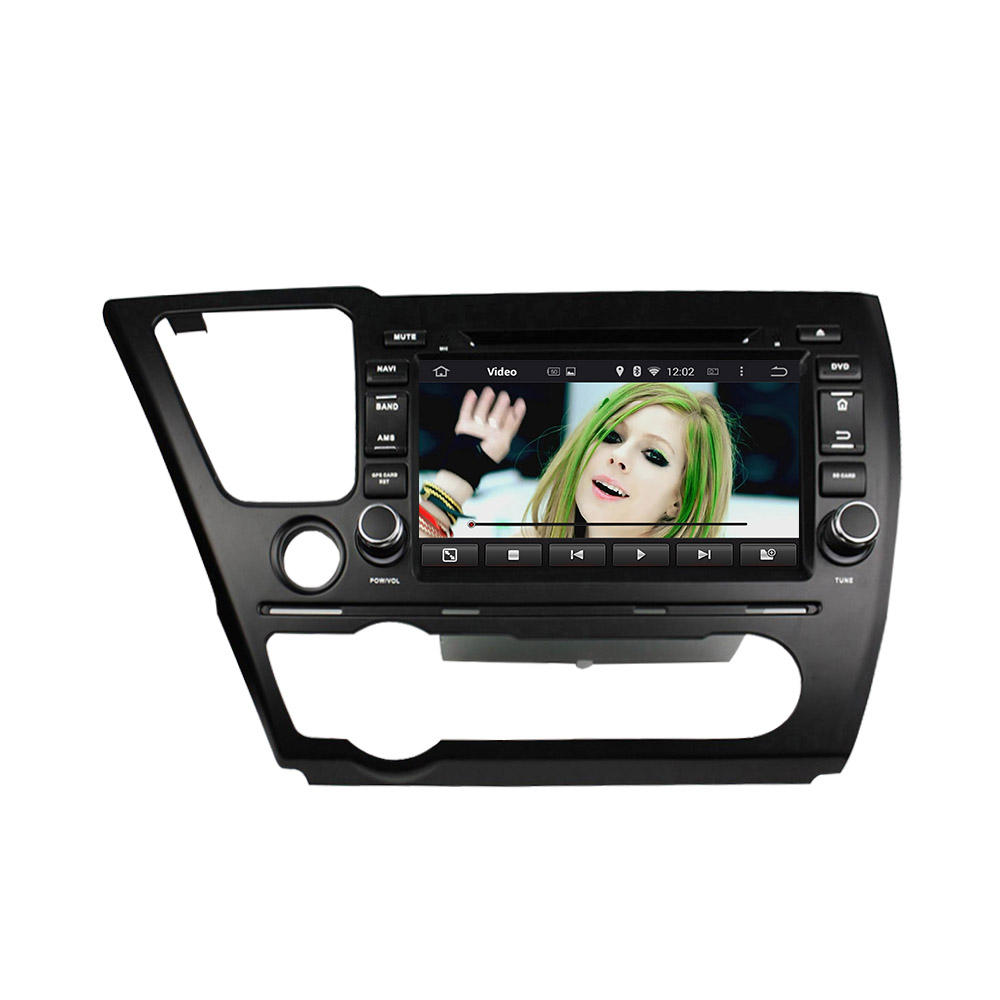 Civic 2014 Sedan car dvd player with 8 inch screen