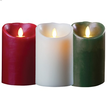 flameless pillar candle