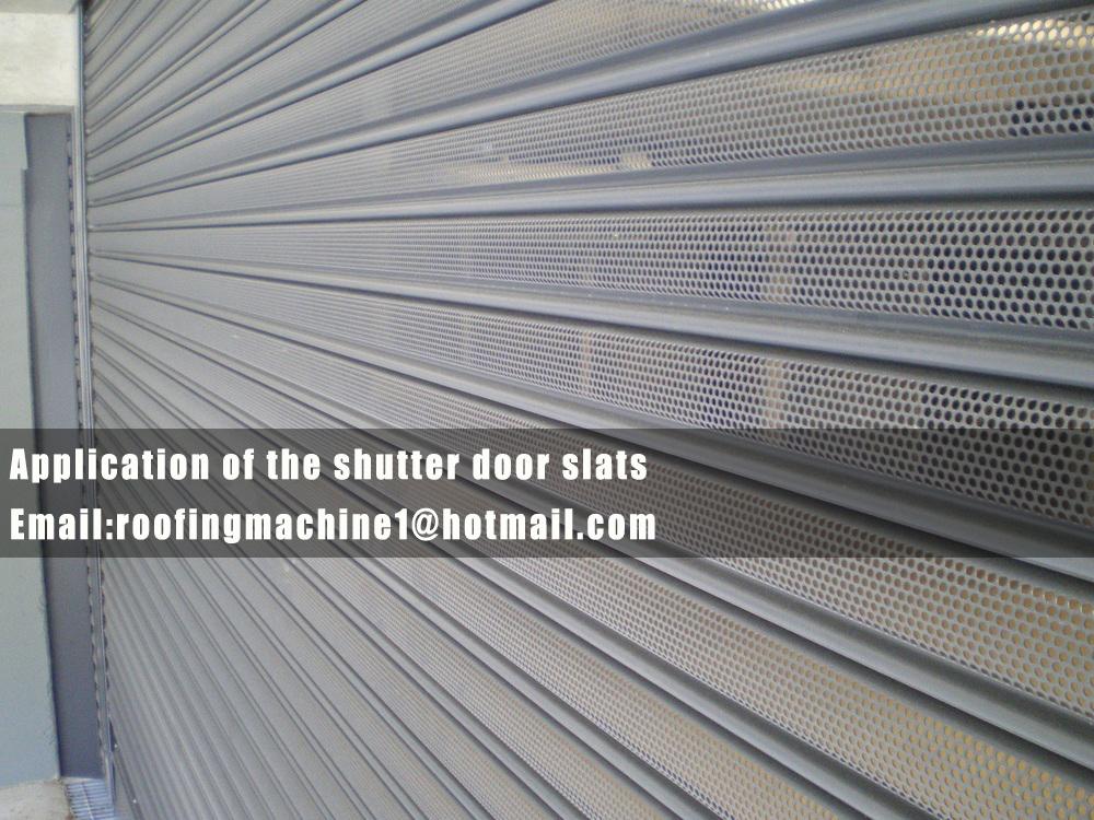 application of the shutter door machine