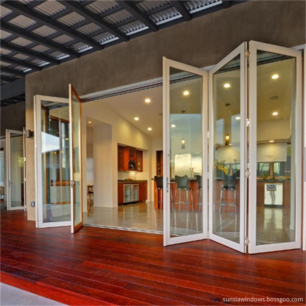 Aluminium Foldable Glass Doors