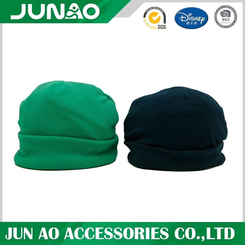 polar fleece solid hat