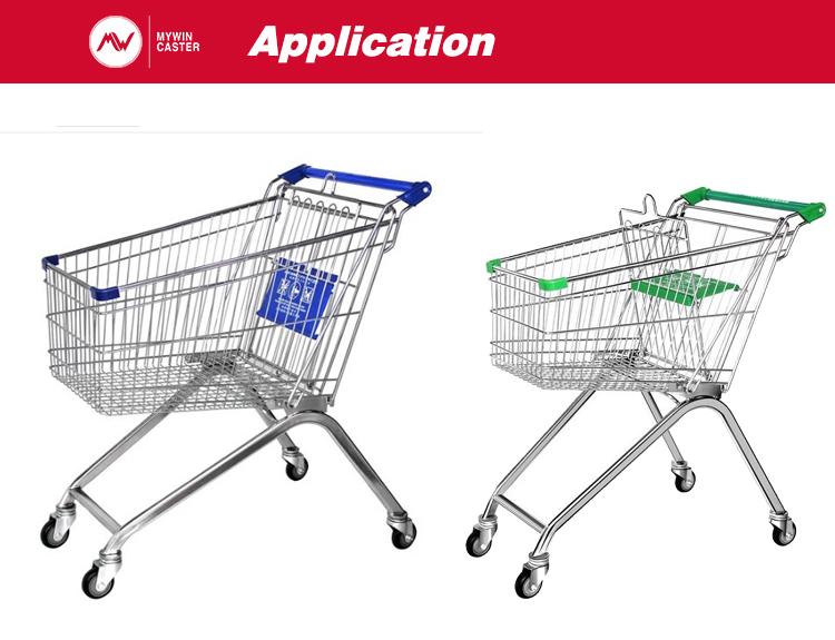 TPR Shopping Cart Bolt Hole Castor