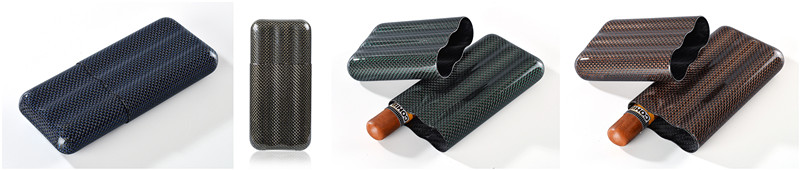 Colorful Carbon fiber cigar case