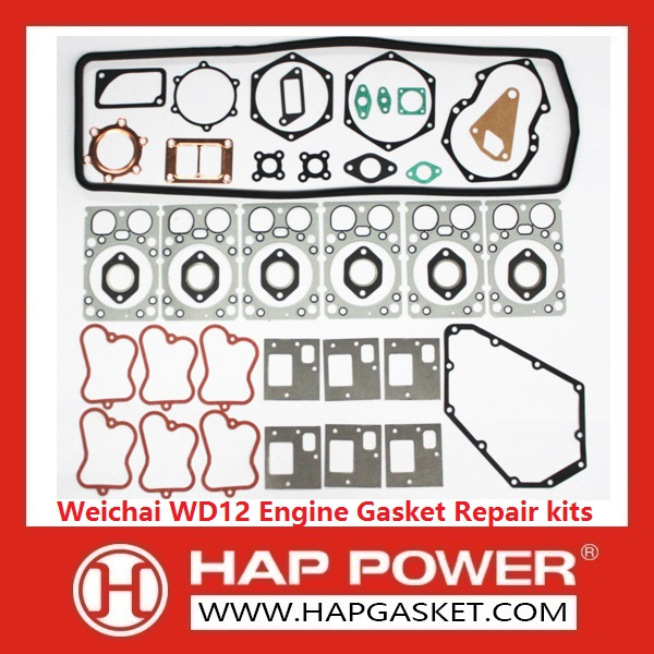 HAP-HD-009 Weichai WD12 Engine Gasket Repair kits Euro2