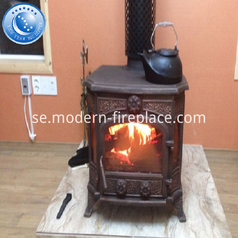 Indoor Cast Iron Wood Stove Fireplace