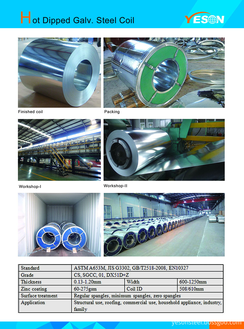 Hot Dipped Galv. Steel Coil