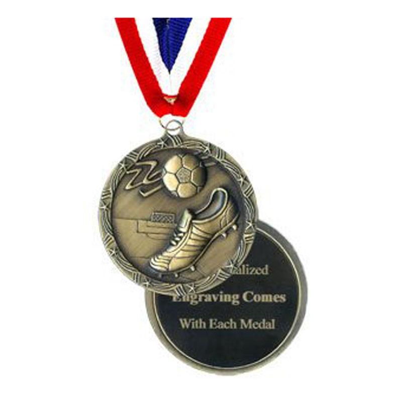 Soccer Medal Engraved Economy Stylel