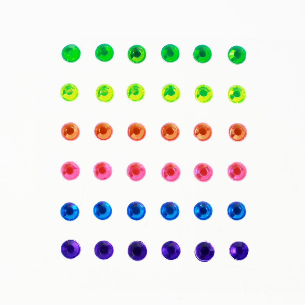 Round Gemstone deco sticker