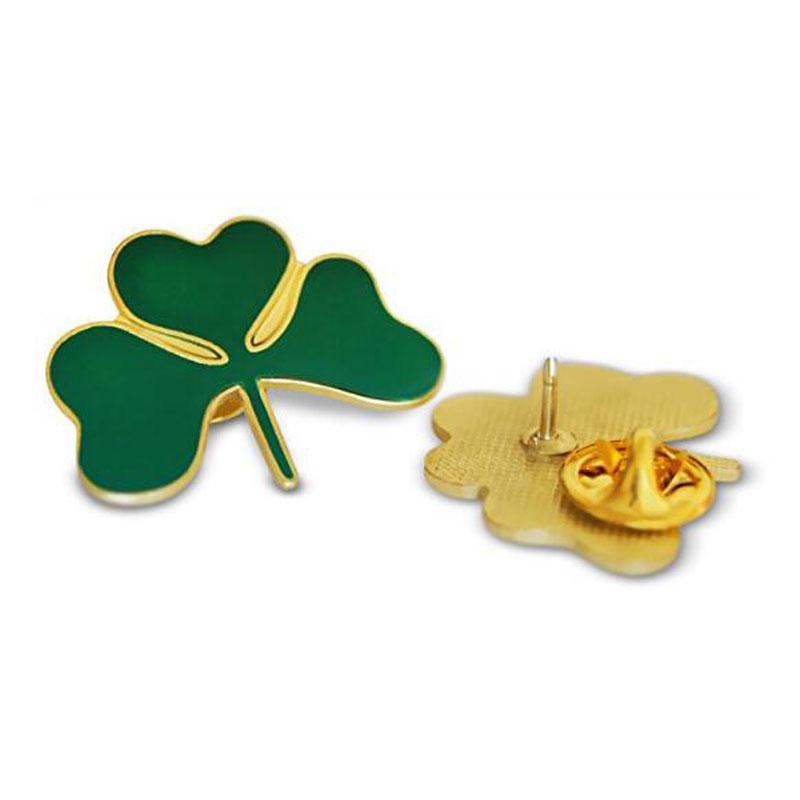 Irish Green Shamrock Lapel Hat Pin