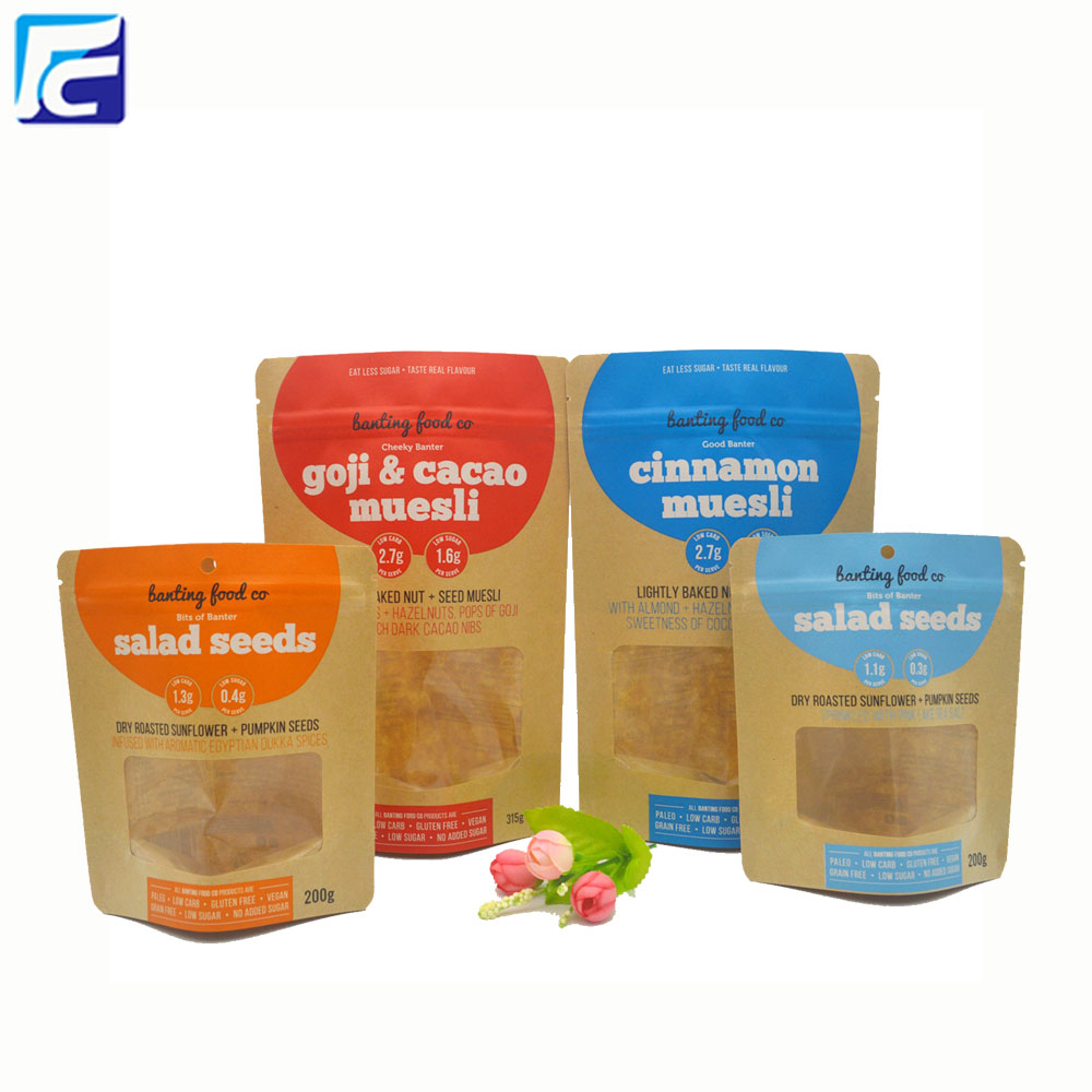 Food Grade Brown Paper Bags With Window