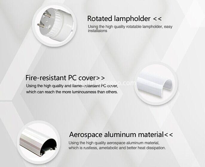 high quality 4ft t8 ce rohs screw led tube part style aluminum lamp holder