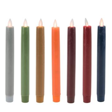 real wax moving wick taper candle