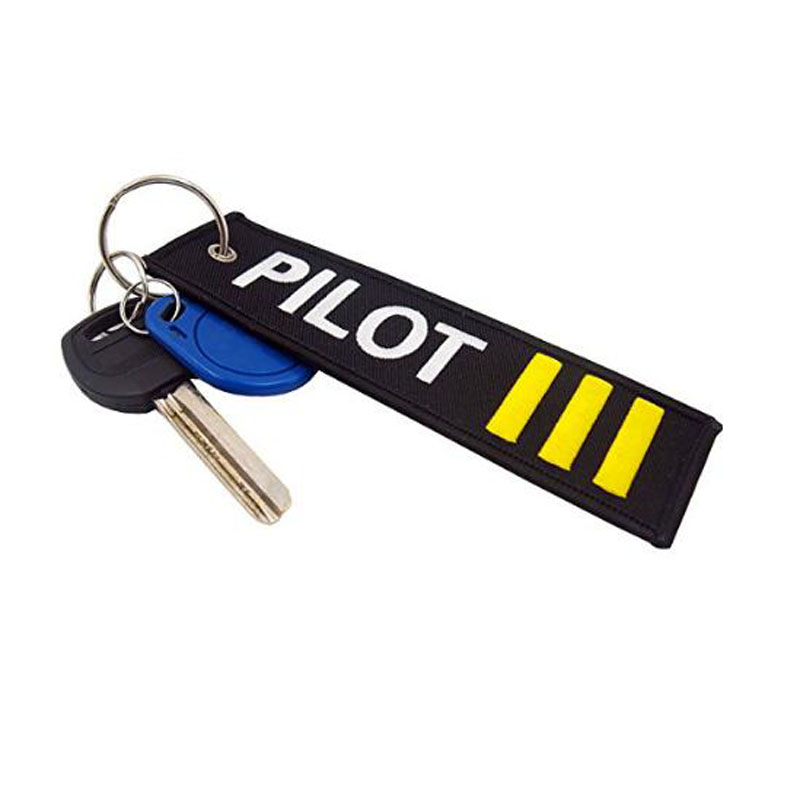 Four Bars Pilots Embroidered Key Chain
