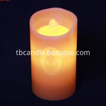Flameless fountain LED candle light with timer