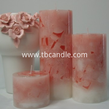 home use decorative scented pillar candle