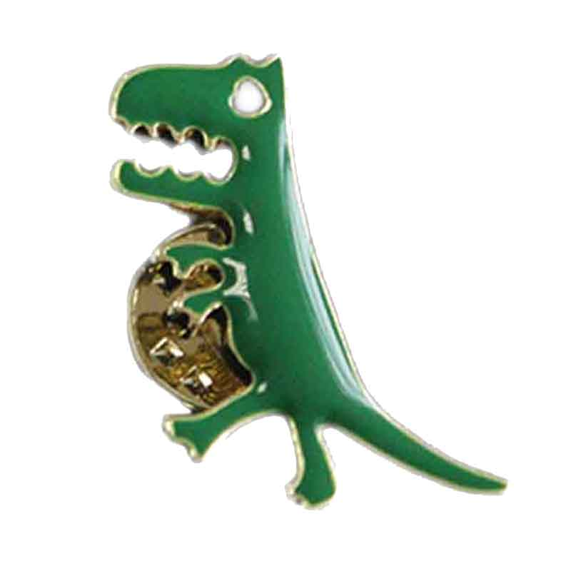 Enamel Metal Dinosaur Badge