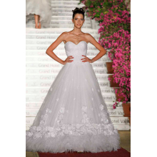 A-Line/Princess Tulle Floor Length All Designer Wedding Dresses