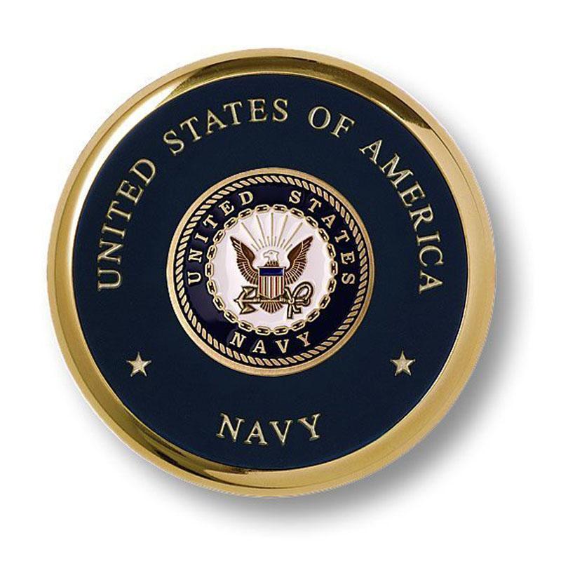 Navy Seal Brass Coaster