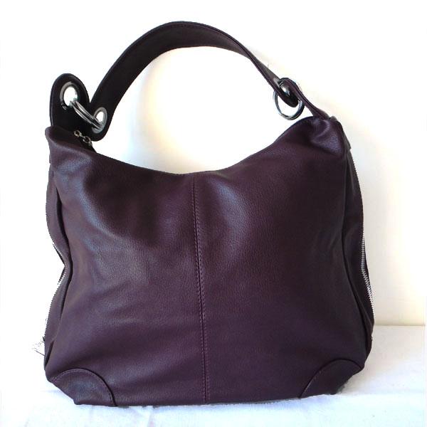 Leather Messenger Hobo Bag