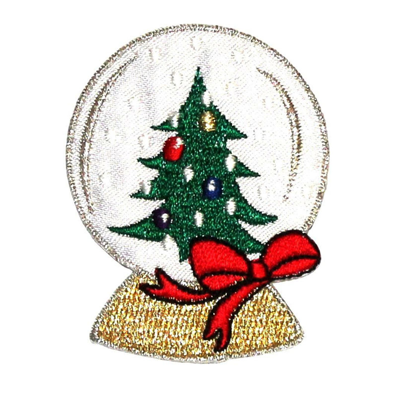 Snow Globe Embroidered Iron On Applique Patch