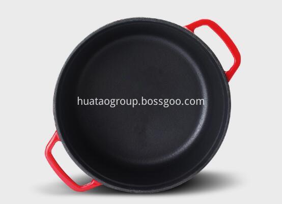cast iron round korean enamel pot kitchenware china manufact