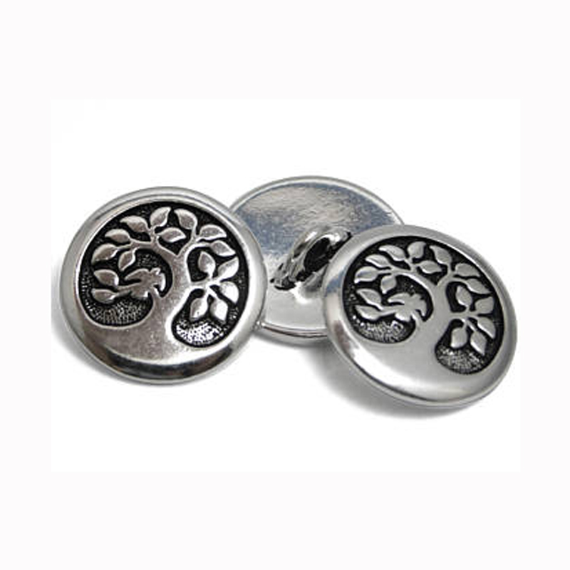 Silver Shank Button