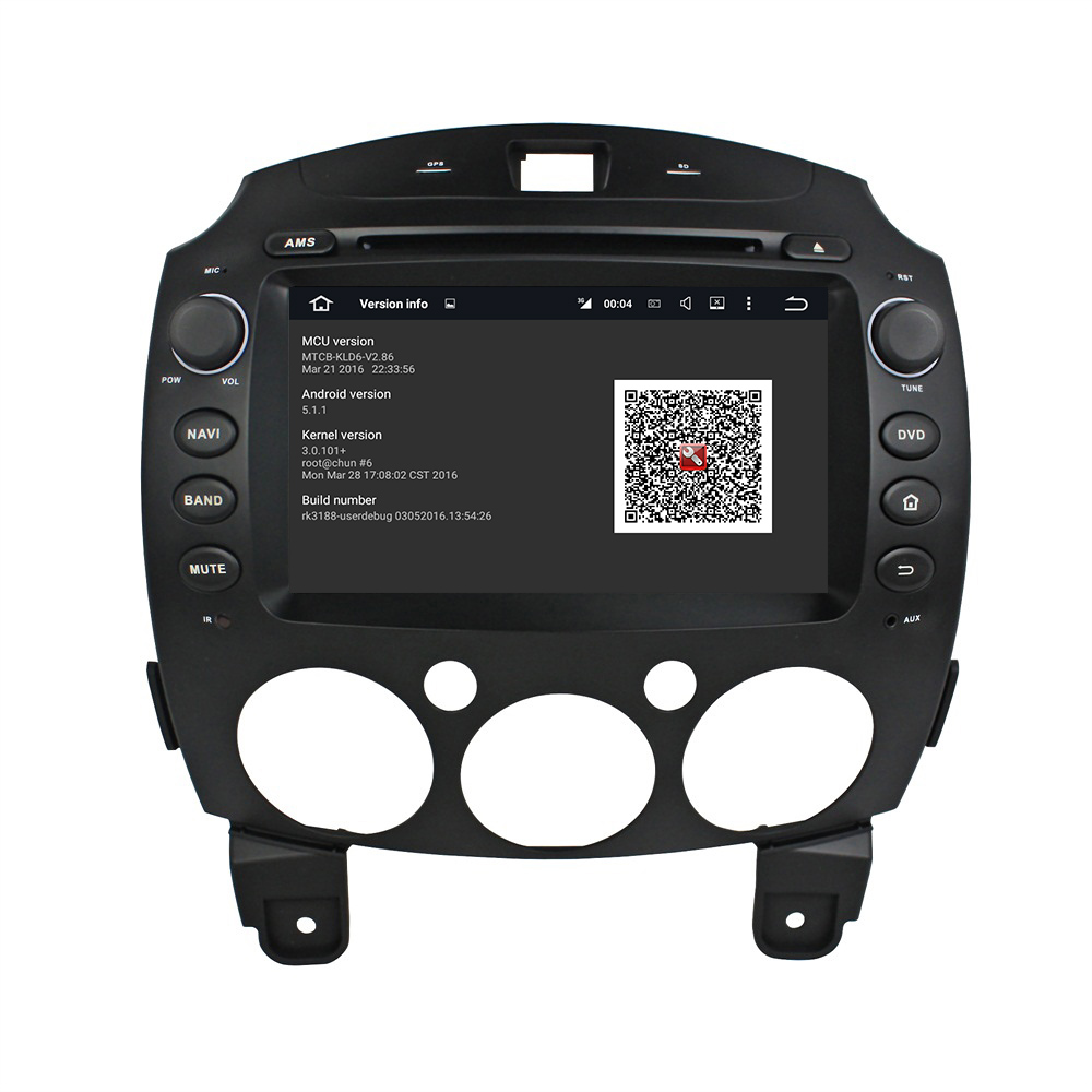 8 inch MAZDA 2 2010-2012 DVD player