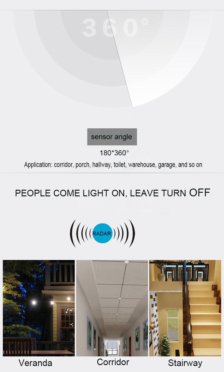 microwave radar active motion sensor