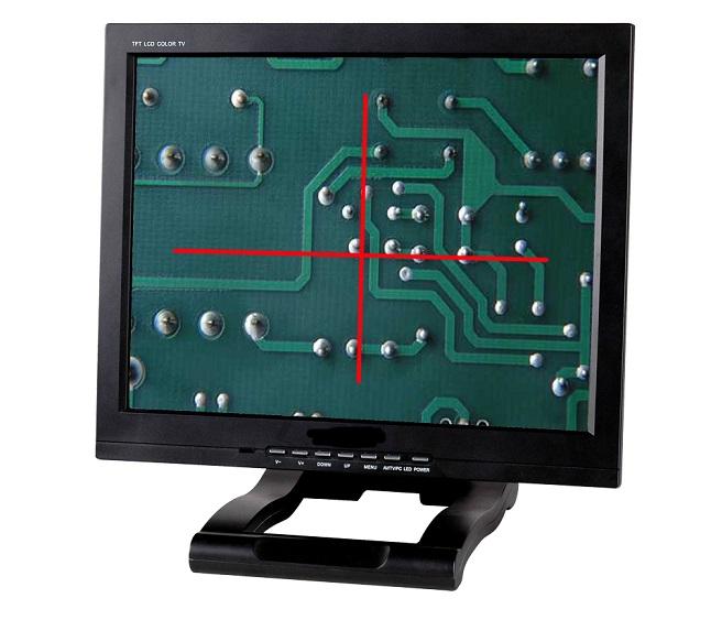 15 inch single cross line monitor