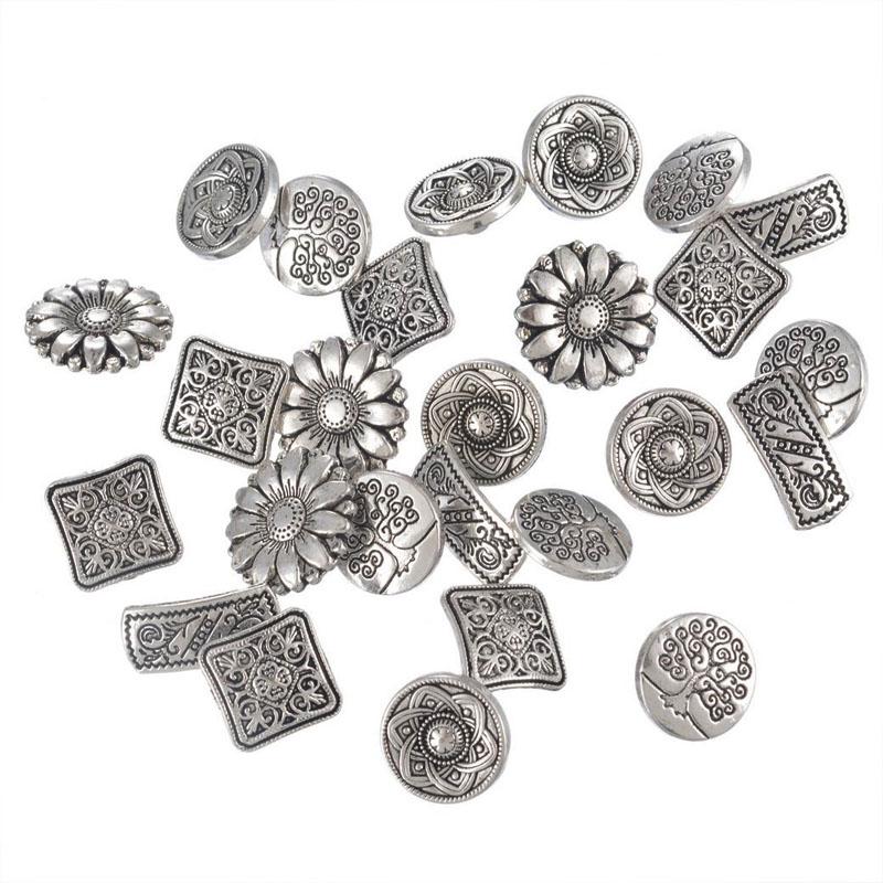 Flower Metal Buttons