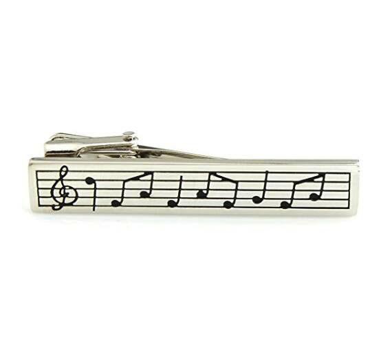 Men S Novelty Music Symbol Tie Clip