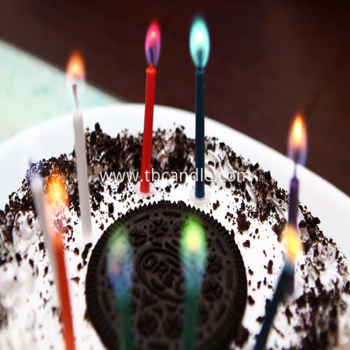 colored flame candle for birthday cake decoration