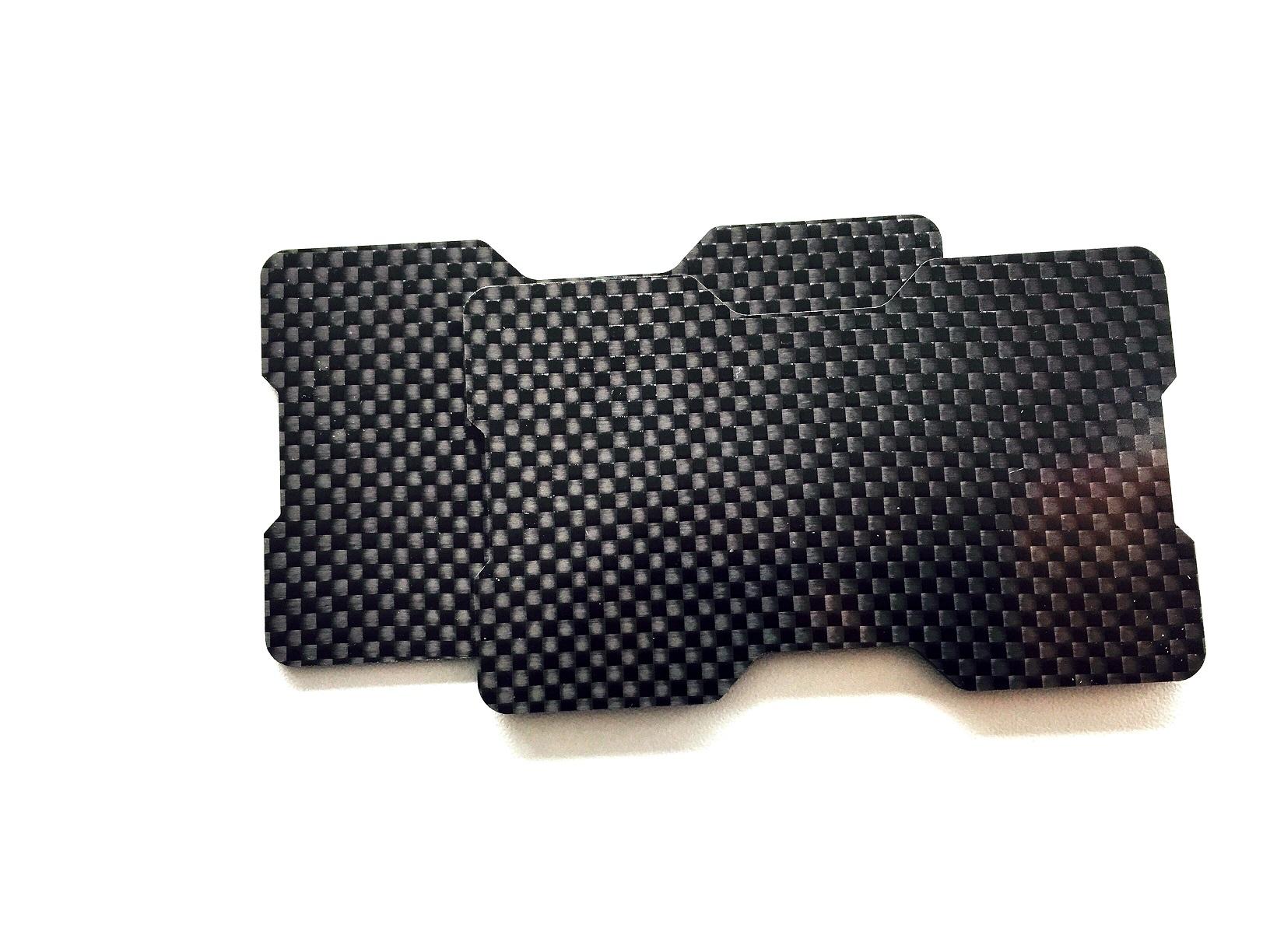 Carbon fiber card holder 2 plates