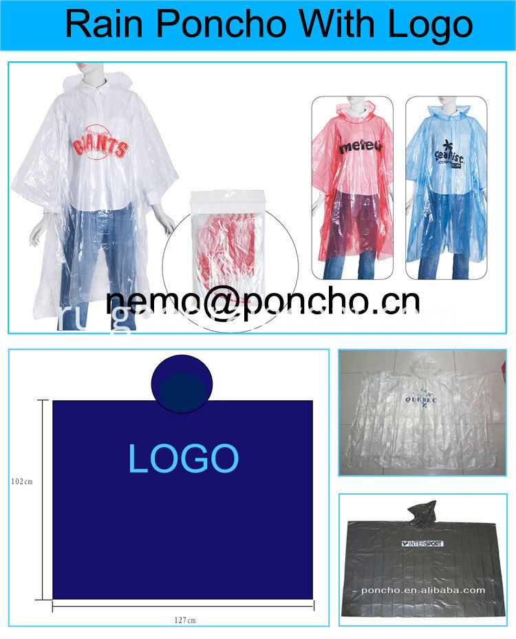 disposable raincoat with packing bag