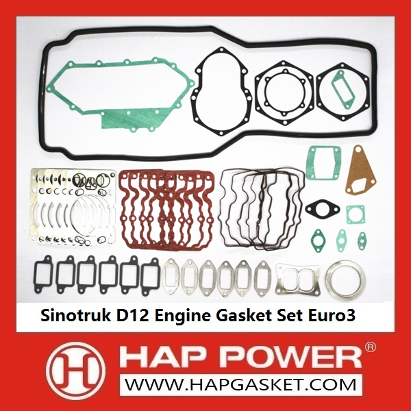 HAP-HD-0015 Sinotruk D12 Engine Gasket Set Euro3