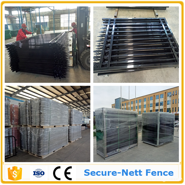 perimeter fence Wrought Iron Fence and Gate Package package