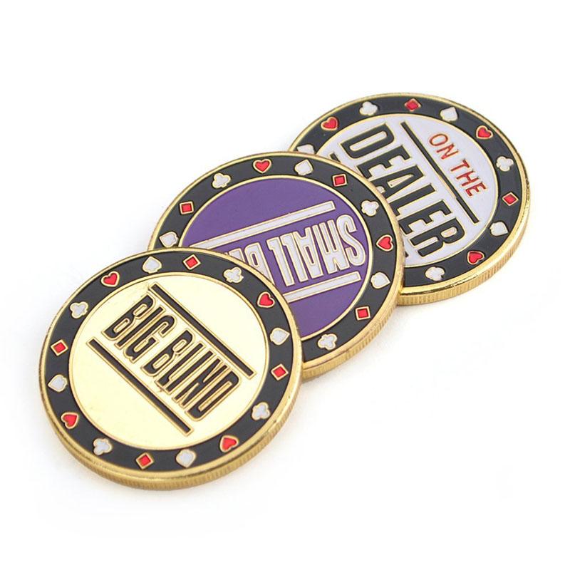 Poker Metal Button