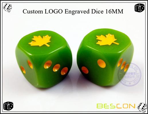 Custom LOGO Engraved Dice 16MM